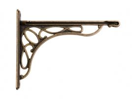 """Кронштейн для полки """"Merletto"""", отделка бронза античная французская, малый"""