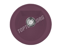 Круглая мойка из искусственного камня, цвет фиолетовый (модель 3)