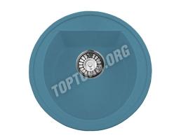 Круглая мойка из искусственного камня, цвет голубой (модель 3)