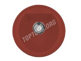 Круглая мойка из искусственного камня, цвет красный (модель 3)