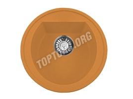 Круглая мойка из искусственного камня, цвет оранжевый (модель 3)