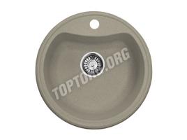 Круглая мойка из искусственного камня, цвет серый (модель 2)