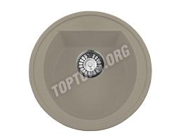 Круглая мойка из искусственного камня, цвет серый (модель 3)