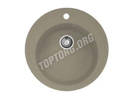 Круглая мойка из искусственного камня, цвет серый (модель 4)