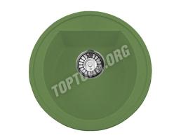 Круглая мойка из искусственного камня, цвет зеленый (модель 3)