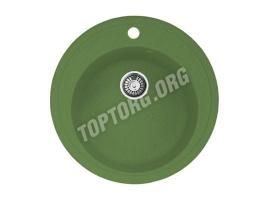 Круглая мойка из искусственного камня, цвет зеленый (модель 4)