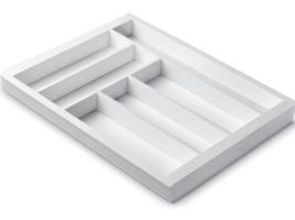 Лоток для столовых приборов 45 см Premiere, белый (размер лотка: 357х481)