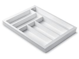 Лоток для столовых приборов 45 см Premiere, белый (размер лотка: 357х472)