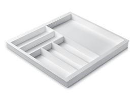 Лоток для столовых приборов 60 см Premiere, белый (размер лотка: 507х472)