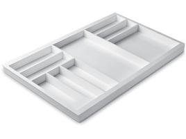 Лоток для столовых приборов 90 см Premiere, белый (размер лотка: 807x472)