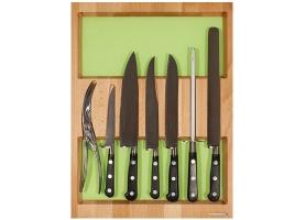 Лоток для столовых приборов в ящик 450 мм, с набором ножей