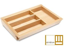 Раздвижной деревянный лоток для столовых приборов в ящик 40-60 см