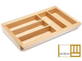 Раздвижной деревянный лоток для столовых приборов в ящик 40-60 см, глубина 50 см