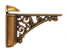 "Кронштейн для полки, (95х125) бронза ""Валенсия"""