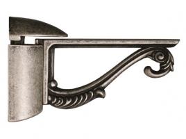 """Кронштейн для полки """"Пеликан"""" классический, отделка серебро старое, комплект 2 штуки"""
