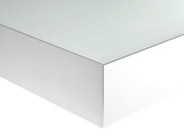 Полка-светильник 45х20 см, алюминий + стекло