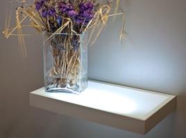 Полка-светильник 90х30 см, венге