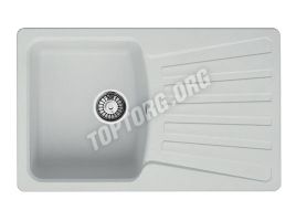 Прямоугольная мойка из искусственного камня, цвет белый (модель 9)