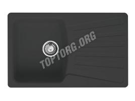 Прямоугольная мойка из искусственного камня, цвет черный металлик (модель 9)