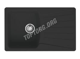 Прямоугольная мойка из искусственного камня, цвет черный (модель 9)