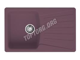Прямоугольная мойка из искусственного камня, цвет фиолетовый (модель 9)