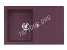 Прямоугольная мойка из искусственного камня, цвет фиолетовый (модель 8)