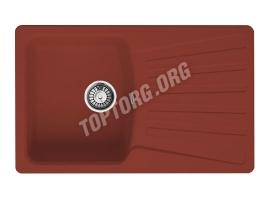 Прямоугольная мойка из искусственного камня, цвет красный (модель 9)