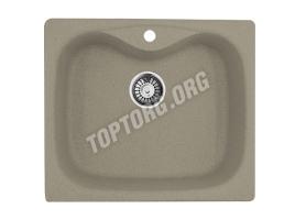 Прямоугольная мойка из искусственного камня, цвет шоколад серый (модель 6)