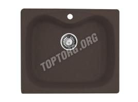 Прямоугольная мойка из искусственного камня, цвет шоколад металлик (модель 6)