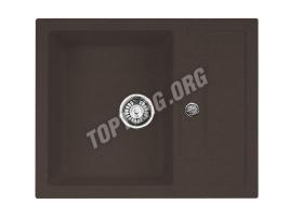 Прямоугольная мойка из искусственного камня, цвет шоколад металлик (модель 7)