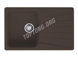 Прямоугольная мойка из искусственного камня, цвет шоколад металлик (модель 9)
