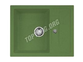 Прямоугольная мойка из искусственного камня, цвет зеленый (модель 7)