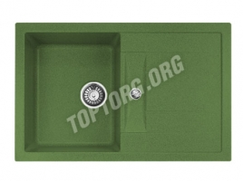 Прямоугольная мойка из искусственного камня, цвет зеленый (модель 8)