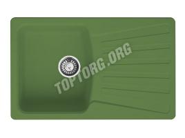Прямоугольная мойка из искусственного камня, цвет зеленый (модель 9)