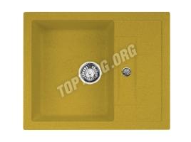 Прямоугольная мойка из искусственного камня, цвет желтый (модель 7)