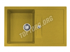 Прямоугольная мойка из искусственного камня, цвет желтый (модель 8)