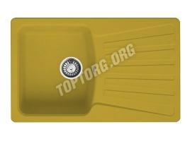 Прямоугольная мойка из искусственного камня, цвет желтый (модель 9)
