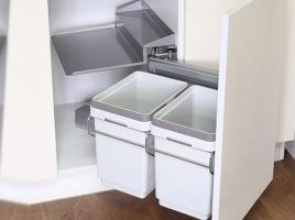 Система сортировки мусора, в ящик от 450 мм, левый, с доводчиком