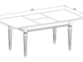 Стол кухонный раскладной 1200 х 800