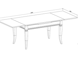 Стол кухонный раскладной 1200 х 800 Ясень белый