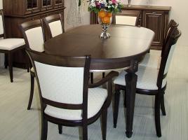 Стол кухонный раскладной 1600 х 1000 Орех темный