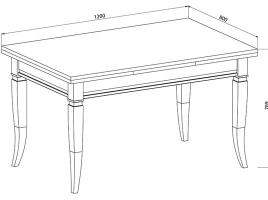 Стол кухонный раскладной 1200 х 800 Ясень бежевый