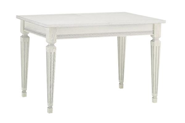 Стол кухонный раскладной 1200 х 800 (Ясень белый, патина серебро)