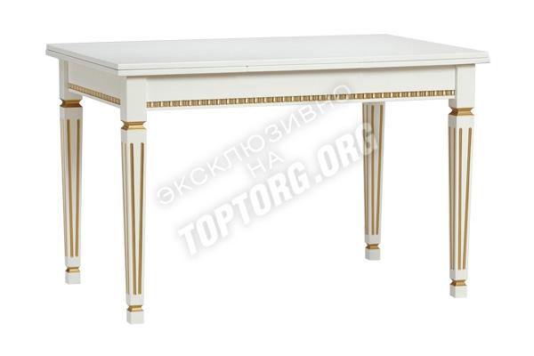 стол обеденный раздвижной деревянный, классика с патиной