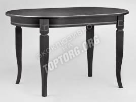 овальный обеденный стол  с патиной
