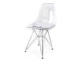 Дизайнерский стул Eames DSR dining chair прозрачный