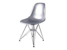 Дизайнерский стул Eames DSR dining chair серебро