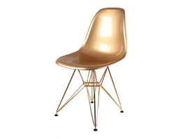 Дизайнерский стул Eames DSR dining chair gold