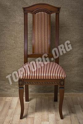 стул орех обивка в полоску