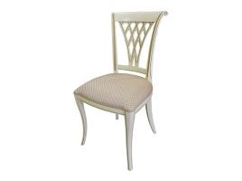 Белый стул с золотой патиной (Алекс-4TS)